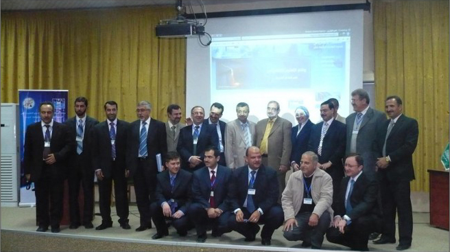 a photo of all of the lecturers at the conference