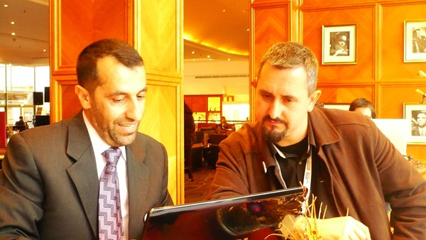 Eng.Ismaeel hazouri explain to Mr.Martin Dougiamas Smartway's Developments on Moodle System