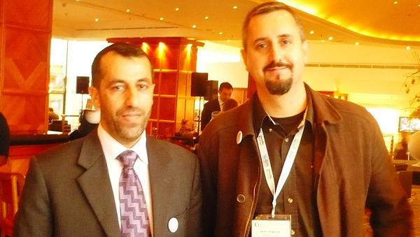 Eng.Ismaeel hazouri with Mr.Martin Dougiamas